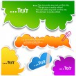 Colorful bubbles for speech - Imagens vectoriais em stock