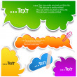 Colorful bubbles for speech - Stock vektor