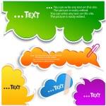 bolhas coloridas para discurso — Vetorial Stock