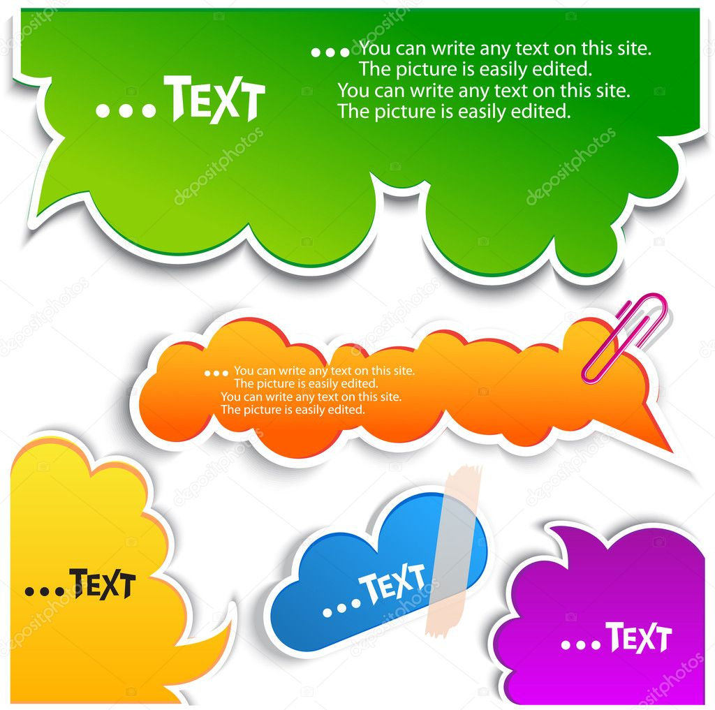 Colorful bubbles for speech — Imagen vectorial #6572021
