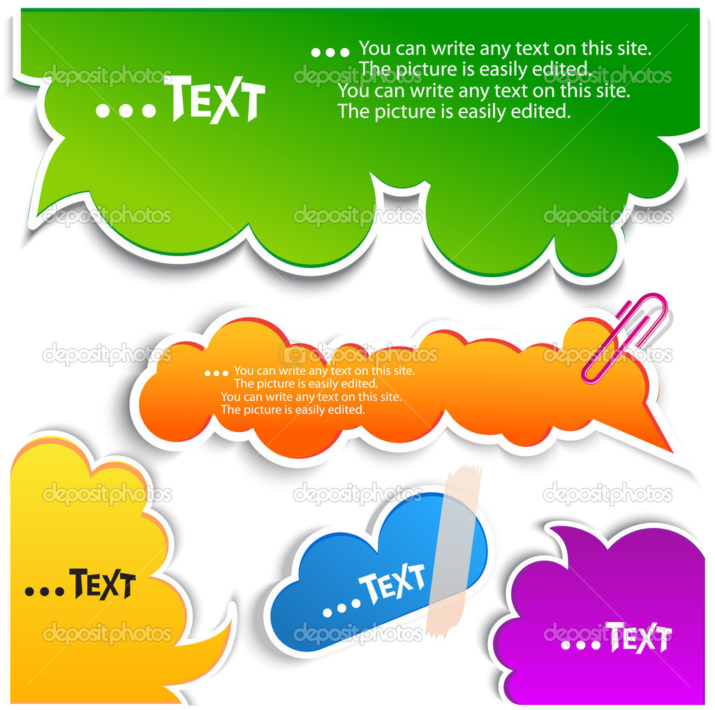 Colorful bubbles for speech — Vektorgrafik #6572021