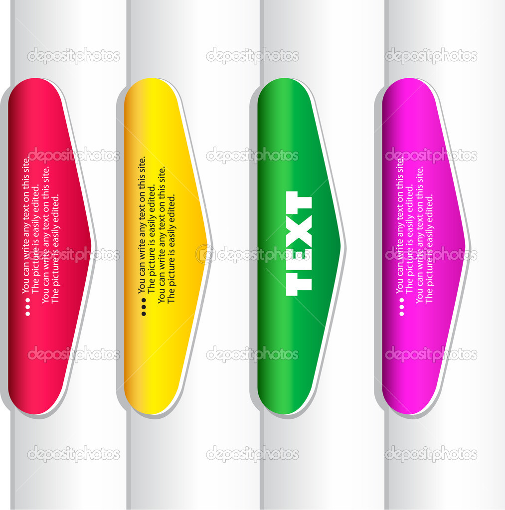 Editable Bookmark Template Colorful paper bookmarks.
