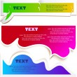 Colorful bubbles for speech — Stock vektor
