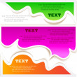 Colorful bubbles for speech — Imagen vectorial