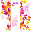 Colorful butterflies background — Stock Vector