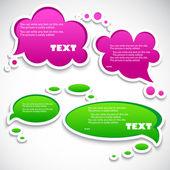 Paper speech bubble — Stock Vector