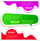 Colorful bubbles for speech — Cтоковый вектор