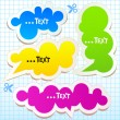 Colorful bubbles for speech — 图库矢量图片