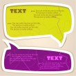 Colorful paper bubble for speech — Image vectorielle