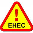 EHEC - warning sign. - Stock Photo