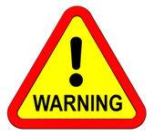 Warning sign isolated on white — Stock Photo
