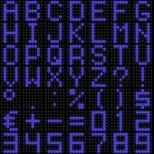 3D dot-matrix font with reflection — Stock Photo