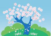 Baum in blüte — Stockvektor