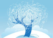Frost tree — Stock Vector