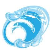 Imagen de agua limpia — Vector de stock