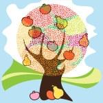 Image of autumn tree — Stock Vector
