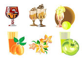 A set icons of desserts — Stock Vector