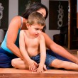 Family yoga — Stock Photo #5612306