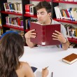 Stock Photo: Library love