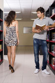 Sexy library — Stock Photo