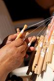 Bobbin Lace-making — Stock Photo