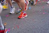Marathon van start — Stockfoto