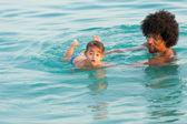 Zwemmen les — Stockfoto