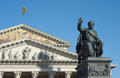 Maximilian Joseph and National Theater — Stock Photo