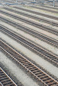 Rail Yard Tracks — Stock Photo