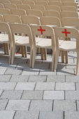 Red Cross Signs — Stock Photo