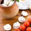Meat dumplings with ingredients — Stock Photo