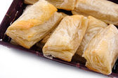 Puff pastry with potato and cabbage — Stock Photo