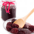 Blackberry jam — Stockfoto