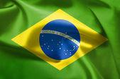 Brazilská vlajka — Stock fotografie