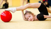 The young gymnast — Stock Photo