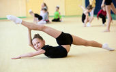 Young gymnast — Stock Photo
