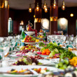 Celebratory buffet table at restaurant — Stock Photo #5690788