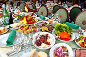 Celebratory buffet table at restaurant — Stockfoto