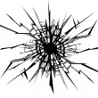 Stock Vector: Cracks in glass.