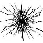 Cracks in the glass. — Stock Vector