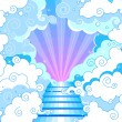 Stock Vector: Stairway to heaven