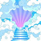 Stairway to heaven — Stock Vector