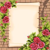 Scrol roses — Stock Vector