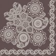Royalty-Free Stock Vector Image: Mehndi flowers 4
