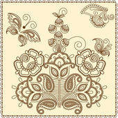 Mehndi flowers 4 — Vector de stock