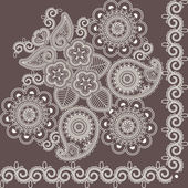 Mehndi flowers 4 — Stockvector