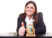 Business woman- time concept — Stock Photo