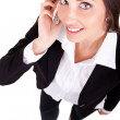 Business woman with a phone — Stock Photo