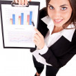 Businesswoman show charts — Stock Photo #5504280