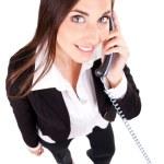 Secretary talking on phone — Stock Photo #5504444